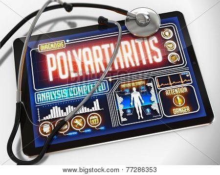 Polyarthritis on the Display of Medical Tablet.