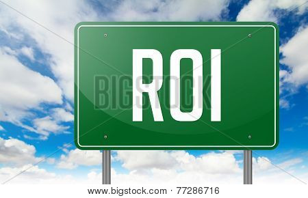 ROI on Highway Signpost.