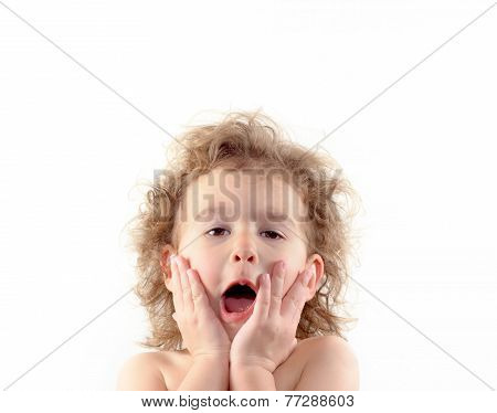 The Expression Of Surprised Child