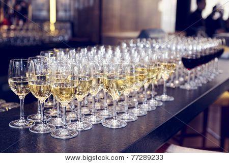 white aviator glasses  glasses of white wine