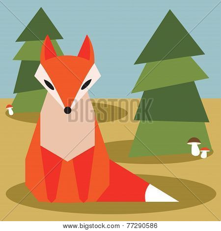Fox In Forest.eps