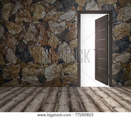 background for advertising the home's interior with open doors