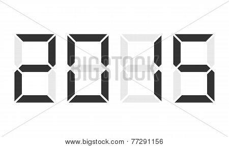 Year 2015, Digital Clock Display