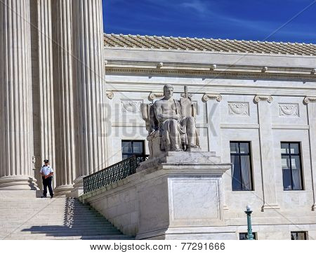 Us Supreme Court Statue Capitol Hill Washington Dc