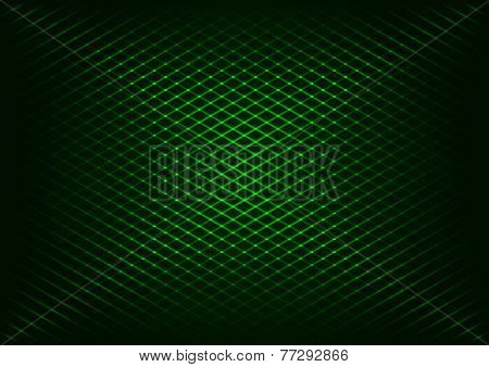 Abstract background of green diagonal strips grid