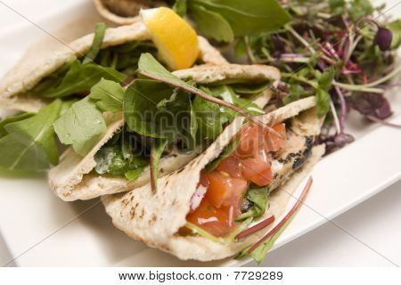 Pitta Bread Filled With A Tuna Salad