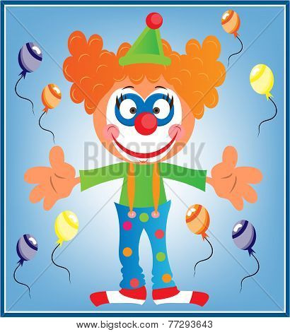 Greeting Card With Clown