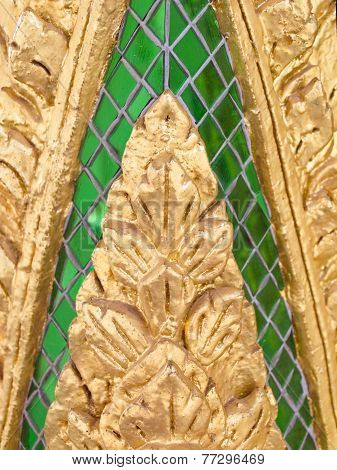 Architectural Detail In A Buddhist Temple