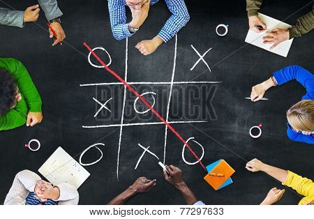 Tic-Tac-Toe Strategy Game Criss Cross Leisure Recreation Concept