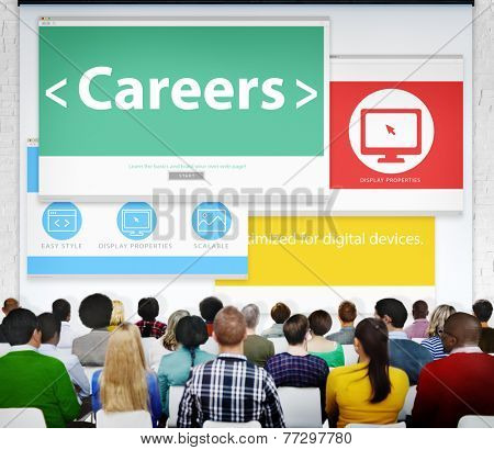 Careers Employment Job Recruitment Profession Seminar Conference Concept