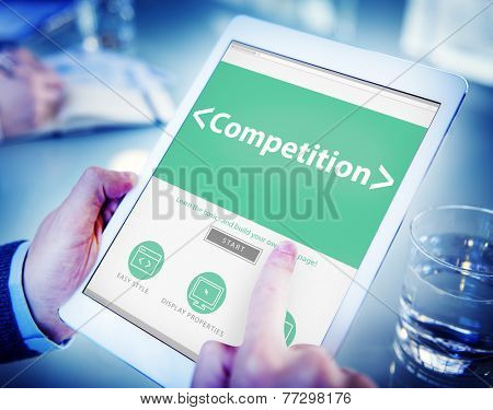 Competition Marketing Business Analysis Working Concept