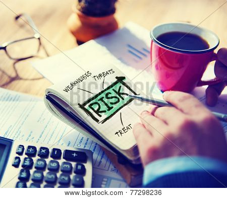 Business Risk Weakness Investment Office Working Concept