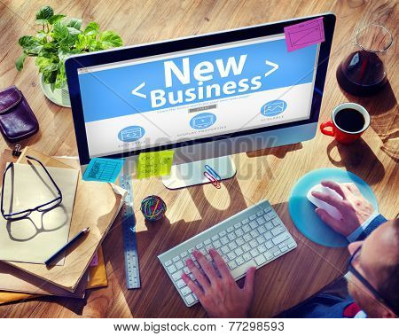 New Business Technology Concept