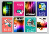 picture of web template  - Set of Flyer Design - JPG