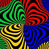pic of strip  - Design colorful swirl movement illusion background - JPG