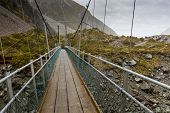 pic of hooker  - Bridge over Hooker River in Aoraki national park New Zealand - JPG