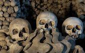 image of head femur  - Three skulls in Kutna Hora  - JPG
