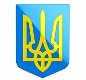 picture of armorial-bearings  - Coat of arms of Ukraine on a white background - JPG