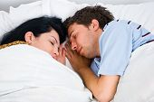 Close Up Sleeping Couple