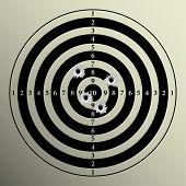 pic of shooting-range  - Illustration of target shooting as a background - JPG