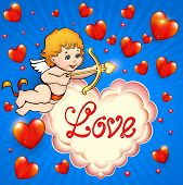 stock photo of cupid  - illustration Valentine - JPG