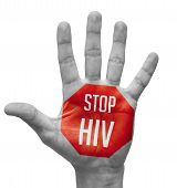 image of hiv  - Stop HIV Sign Painted - JPG