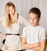 picture of disobedient  - Mom swears by son - JPG