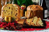 foto of christmas dinner  - italian typical christmas cake called  - JPG