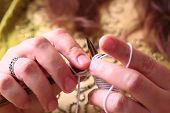 stock photo of knitting  - Close - JPG