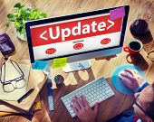 stock photo of overhauling  - Digital Online Update Upgrade Office Working Concept - JPG