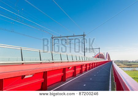 Red Railroad Bridge