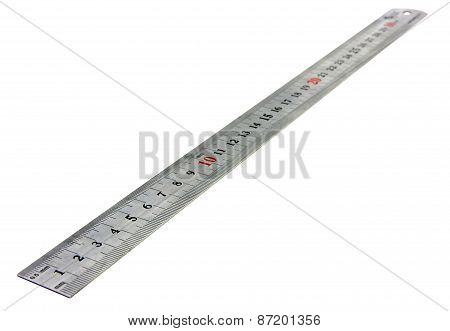 Isolated With Metal Ruler