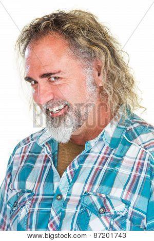 Flirtacious Bearded Man