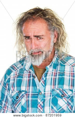 Worried Man With Beard
