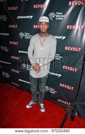 LOS ANGELES - APR 1:  Michael Ray Nguyen-Stevenson, aka Tyga at the Live Perfomances from