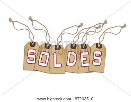 Sale Concept, Formed Of Textured Blank Tags