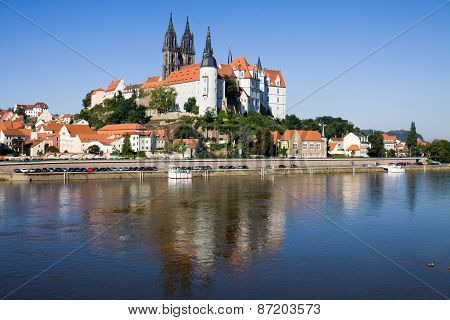 Cityscape Of Meissen In Germany