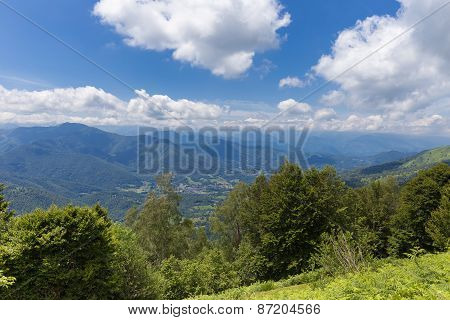 Valley At The Pyrenees In Boussenac