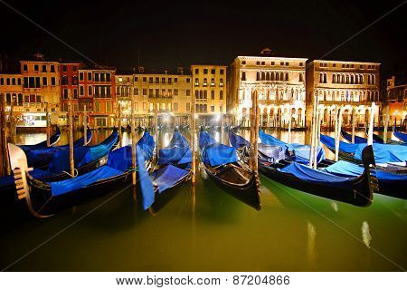 Venice Italy By Night