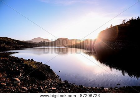 Dark Water Lake in Gran Canaria