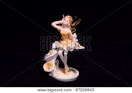 Clay Handmade Statuette of a Fairy