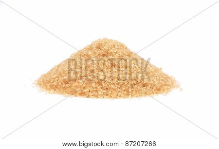 Brown Cane Sugar On White