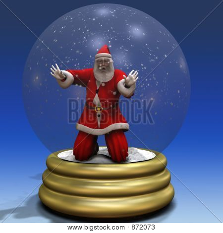 Santa Trapped in Snow Globe 3