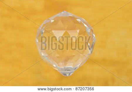 Crystal Ball On Yellow