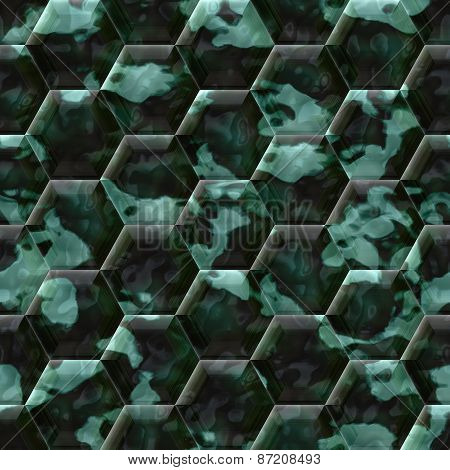 Cobble Hexagon Stone Background