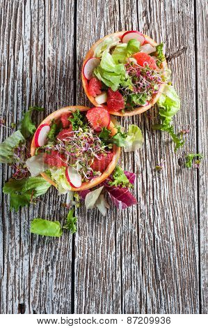 Salad With Grapefruit.