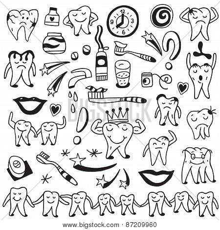 Hygiene , tooth doodles