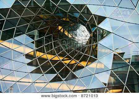 Faceted Glass Diminishing Architectural Funnel