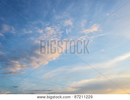 sky with dramatic clouds