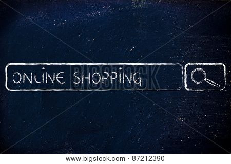 E-business And Buying Online: Search Bar Wih Tags Online Shopping